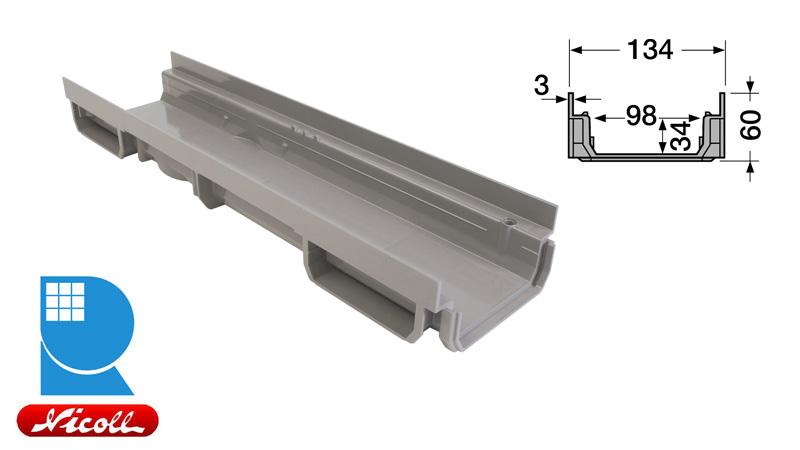 کانال هدایت آب از جنس پی وی سی مدل CAB773
